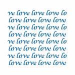 Фон Love трафарет для пряника 13*14 см (TR-2)