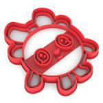 Малышарики Пандочка вырубка для пряников 10*8,4 см (3D)