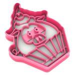 Свинка-кексик вырубка для пряников 9*6,4 см (3D)
