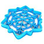 Вырубка для пряников Снежинка-4 10*9 см (3D)