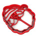 Вырубка для пряников Санта Клаус 10,6*9 см (3D)