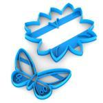 Набор вырубок для пряников Бабочка 12*13см на Листике 6*9,7см (3D)