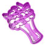 Вырубка для пряников Букет цветов 12*8 см (3D)