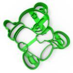 Вырубка для пряников Медвежонок с бутылочкой 10*9 см (3D)