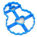 Вырубка для пряников Цифра 8 ажурная с сердцами 12*9 см (3D)