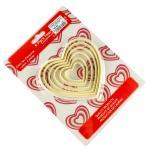 Вырубка для печенья Сердце (матрешкой) 6 шт