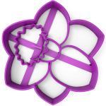 Вырубка для пряников Цветок 8,5*7,5 см (3D)