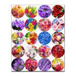 Капкейки-5 см Цветы вафельная картинка