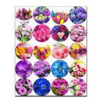 Капкейки-5 см Цветы-2 вафельная картинка