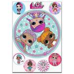 Кукла LOL круглая 2 вафельная картинка