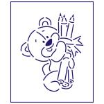 Трафарет Мишка с карандашами 11 см (TR-1)