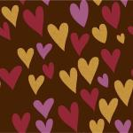 Трансфер для шоколада Les Coeurs IBC 30*40 см 1 шт