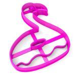 Вырубка для пряников Фламинго-пончик 10*8 см (3D)
