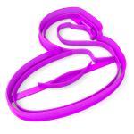 Вырубка для пряников Фламинго круг для бассейна 9,5*9,5 см (3D)