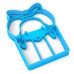 Вырубка для пряников Мышка-подарок 9*6,5 см (3D)