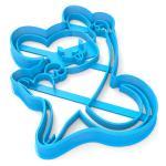 Вырубка для пряников Мышка-6 12*9,5 см (3D)