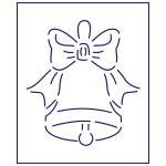 Трафарет Колокольчик 11 см (TR-1)