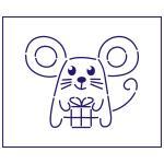 Трафарет Мышка-3 8x10см (TR-1)