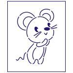 Трафарет Мышка-1 11*8 см (TR-1)