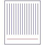 Трафарет Фон Тетрадный лист 11,5*10 см (TR-1)