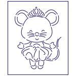 Трафарет Принцесса мышка 12*9 см (TR-1)
