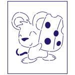 Трафарет Мышка с сыром 10*10 см (TR-1)
