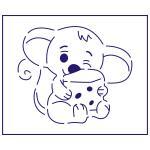 Трафарет Мышка с сыром-2 9,5*11 см (TR-1)