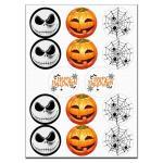 Хеллоуин 6см вафельная картинка