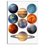Планеты вафельная картинка