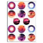 Космос 6см вафельная картинка