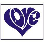 Трафарет Сердце love 9.5*12 см (TR-1)