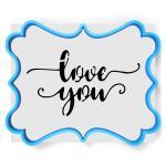 Надпись love you  вырубка с трафаретом 11*14 см (TR-1)