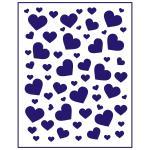 Трафарет Фон сердца-2 13*10 см (TR-1)