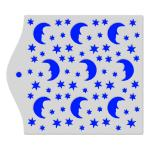 Фон Месяц и звезды трафарет для пряников 12,5*12,5 см (TR-2)