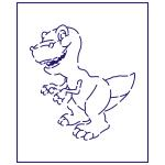 Трафарет Динозавр 1 10*9 см (TR-1)