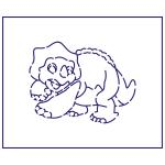Трафарет Динозавр 2 7.1*9.3 см (TR-1)