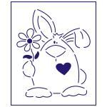 Трафарет Заяц с цветочком 12*10 см (TR-1)