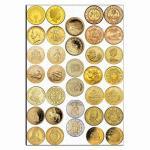 Монеты 4см вафельная картинка