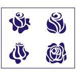 Трафарет Розы 1 11*10 см (TR-1)
