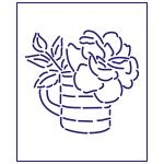 Трафарет Роза в чашке 9*10 см (TR-1)