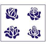 Трафарет Розы 2 10*11.5 см (TR-1)