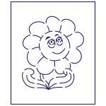 Трафарет Цветок 1 10*8.5 см (TR-1)