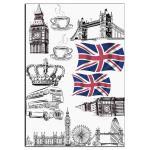 Лондон  вафельная картинка