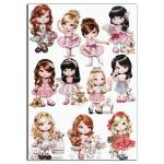 Милые девочки 1 вафельная картинка