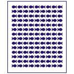 Трафарет Фон Рыбки 1*0,6 см (TR-1)