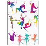 Силуэты танцоры 8-10 см вафельная картинка