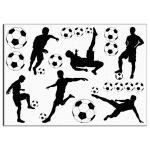 Футболисты силуэты 10-11 см вафельная картинка