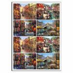 Венеция 10*7 см вафельная картинка