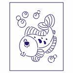 Трафарет Рыбка-2 10*8 см (TR-1)