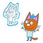 """Три Кота """"Коржик"""" вырубка с трафаретом 10*7 см (TR-1)"""